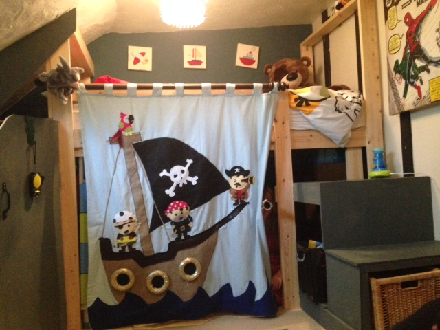 pirate applique curtain