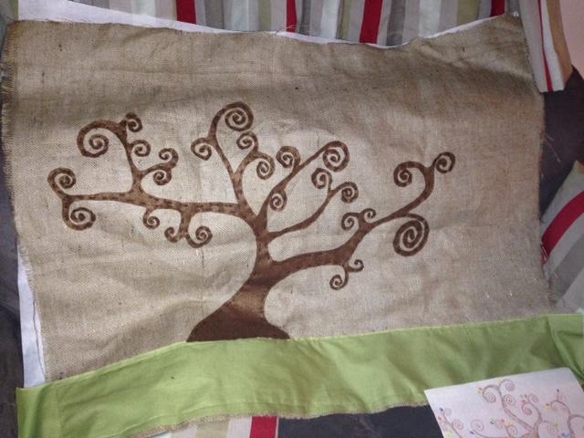 tree applique in progess