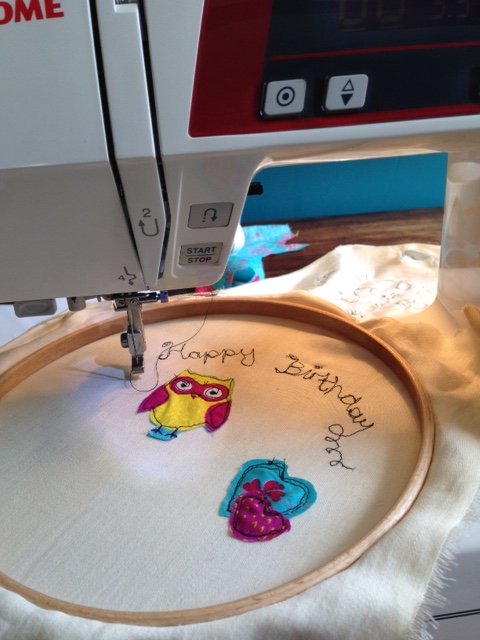 free machine embroidering