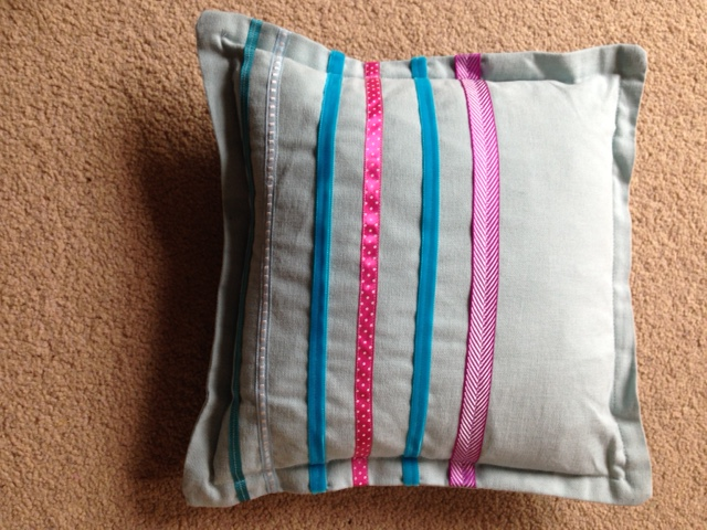 my ribbon cushion