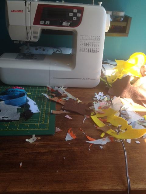 cut up applique pieces