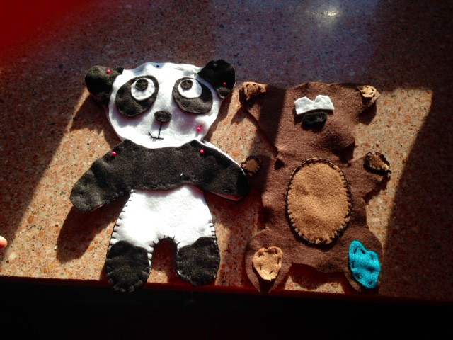 Panda and Teddy in production